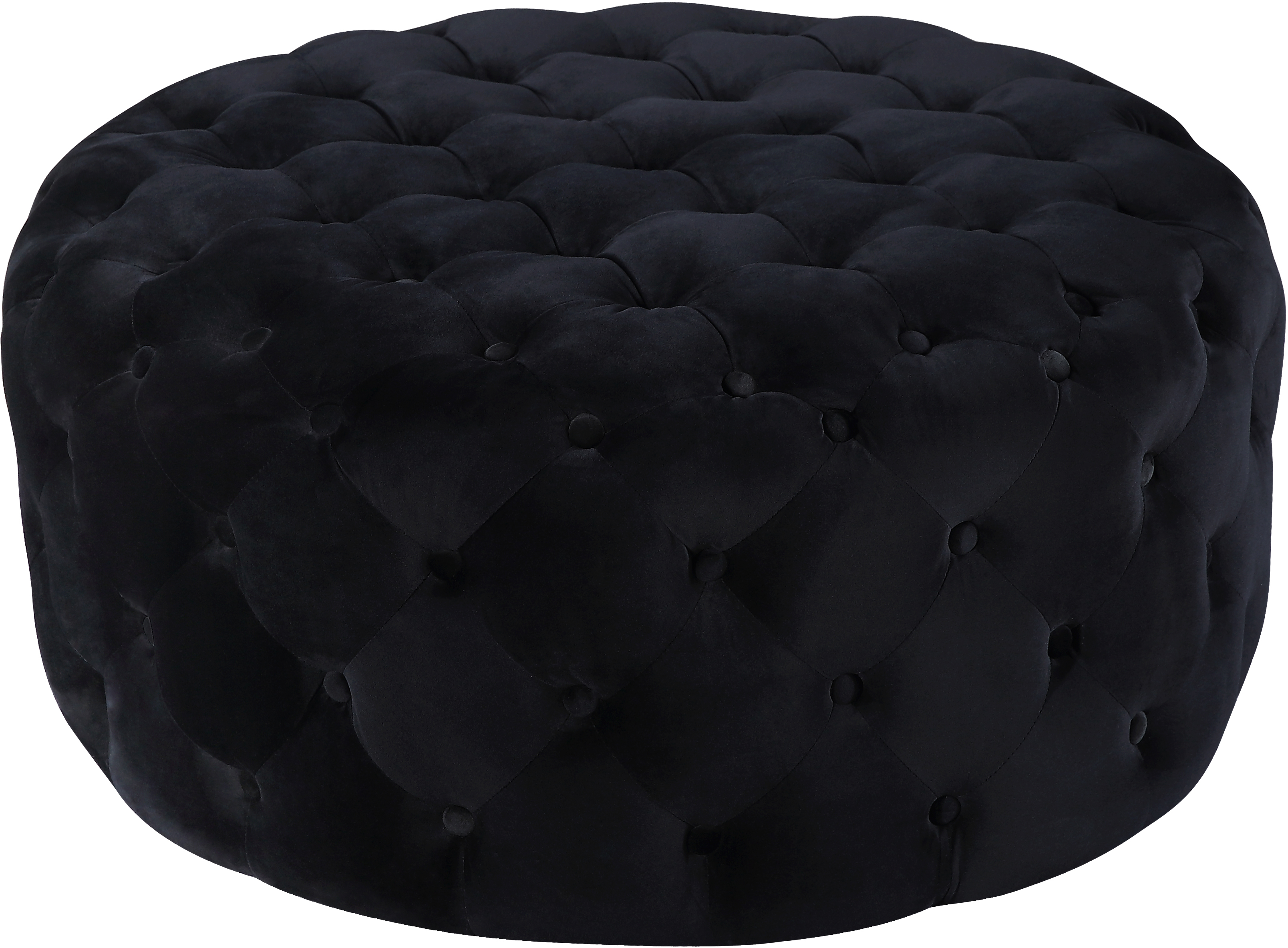 Addison Black Velvet Ottoman/Bench