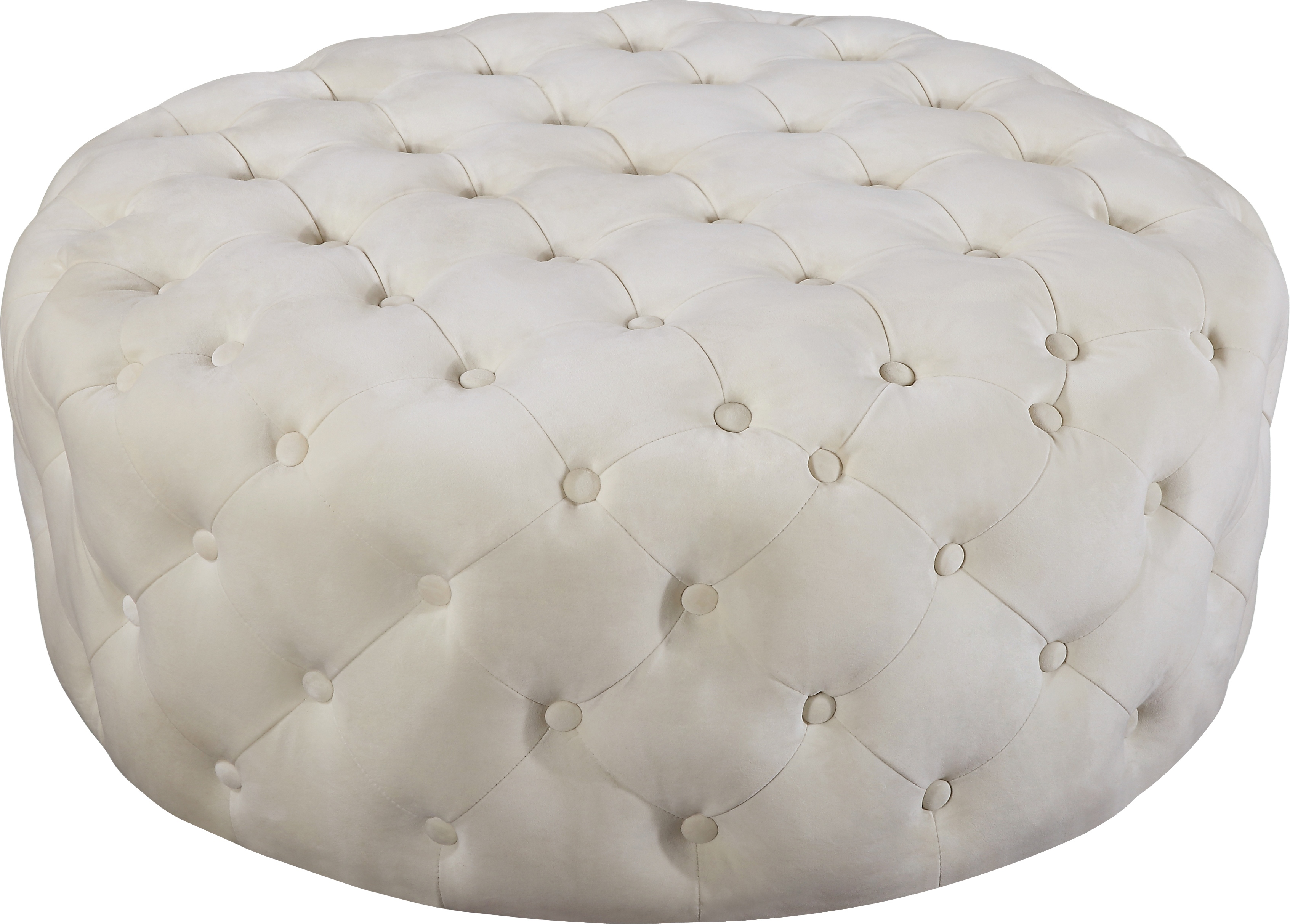 Addison Cream Velvet Ottoman/Bench