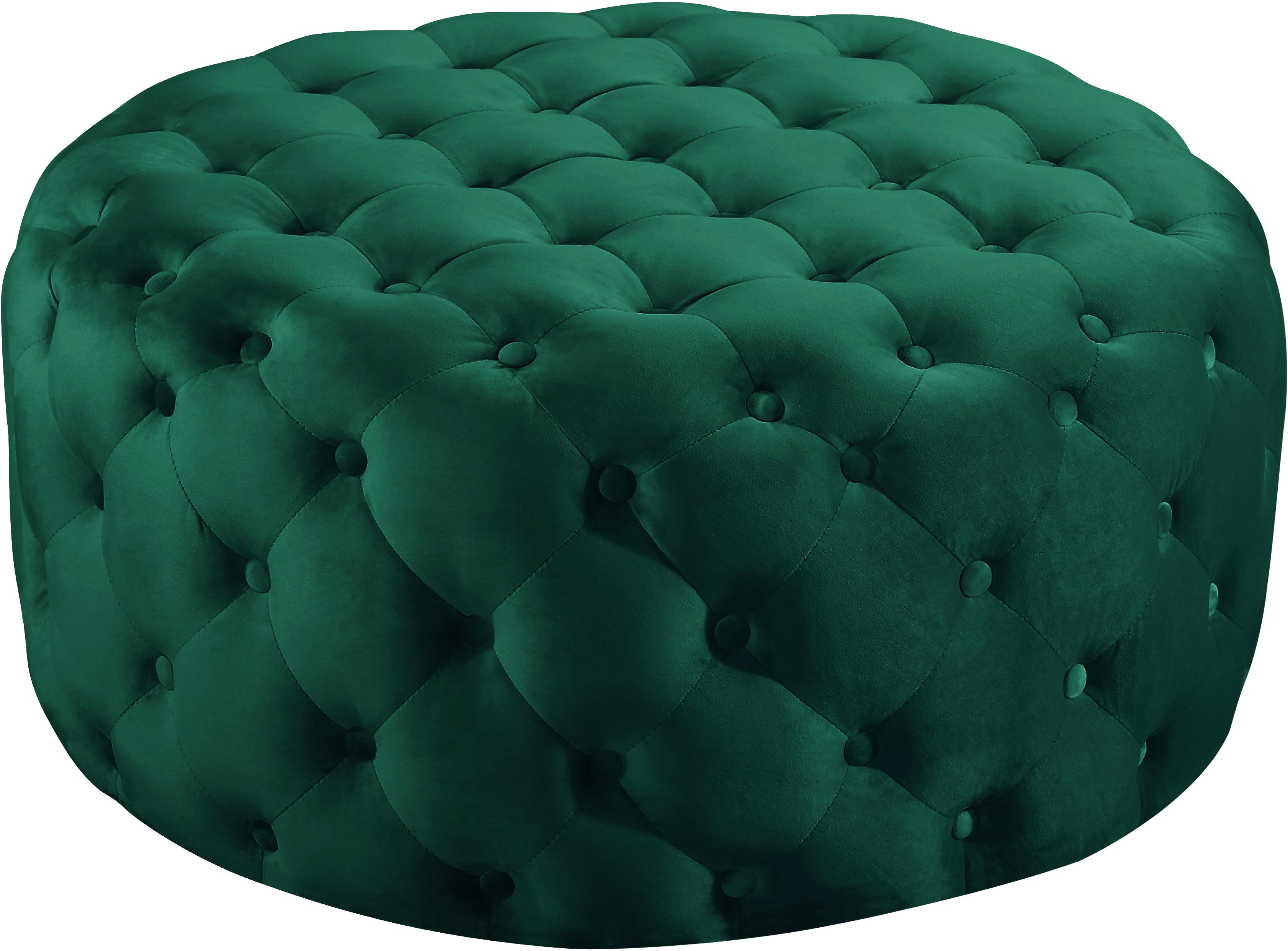 Addison Green Velvet Ottoman/Bench