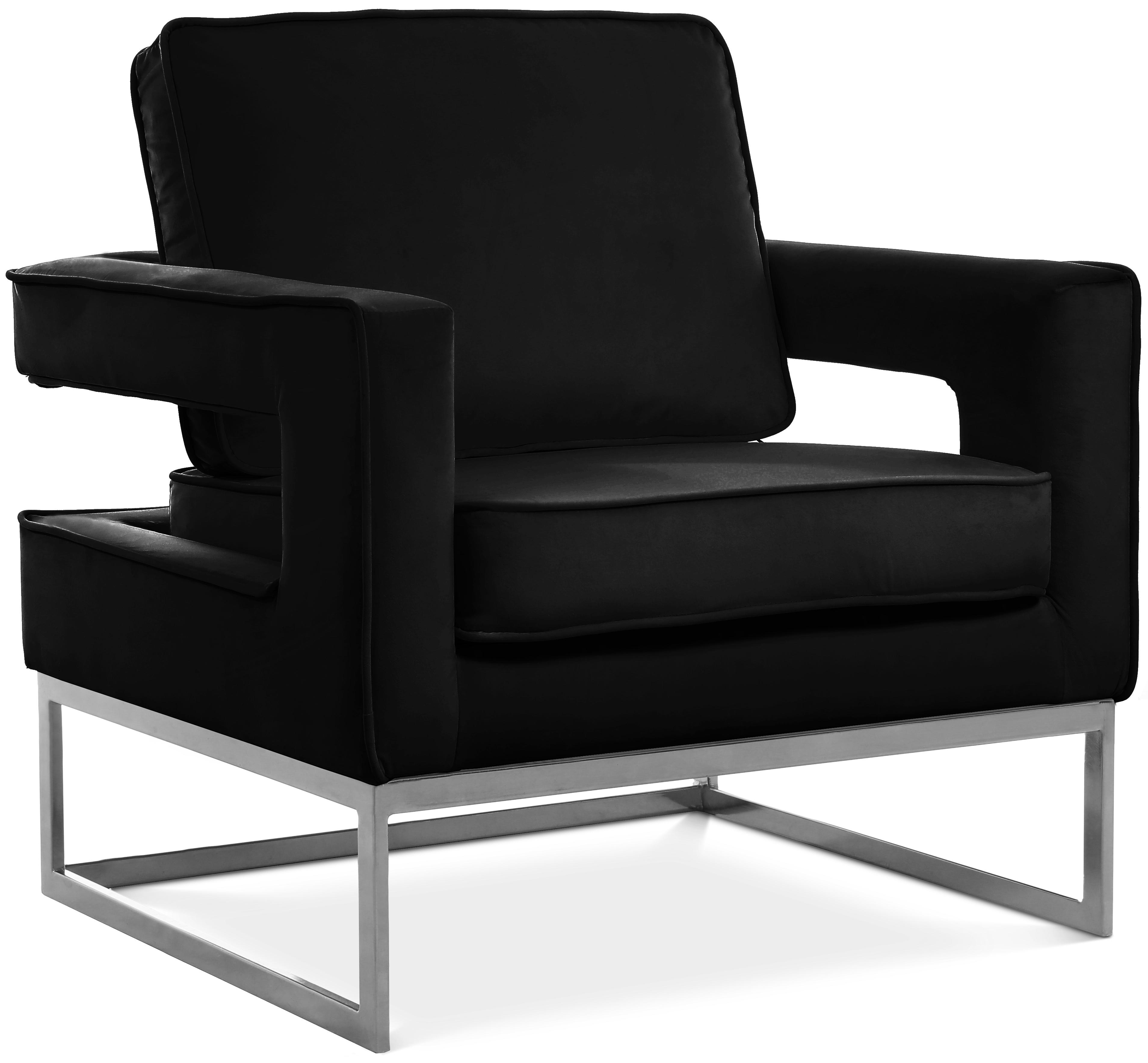 Noah Black Velvet Accent Chair