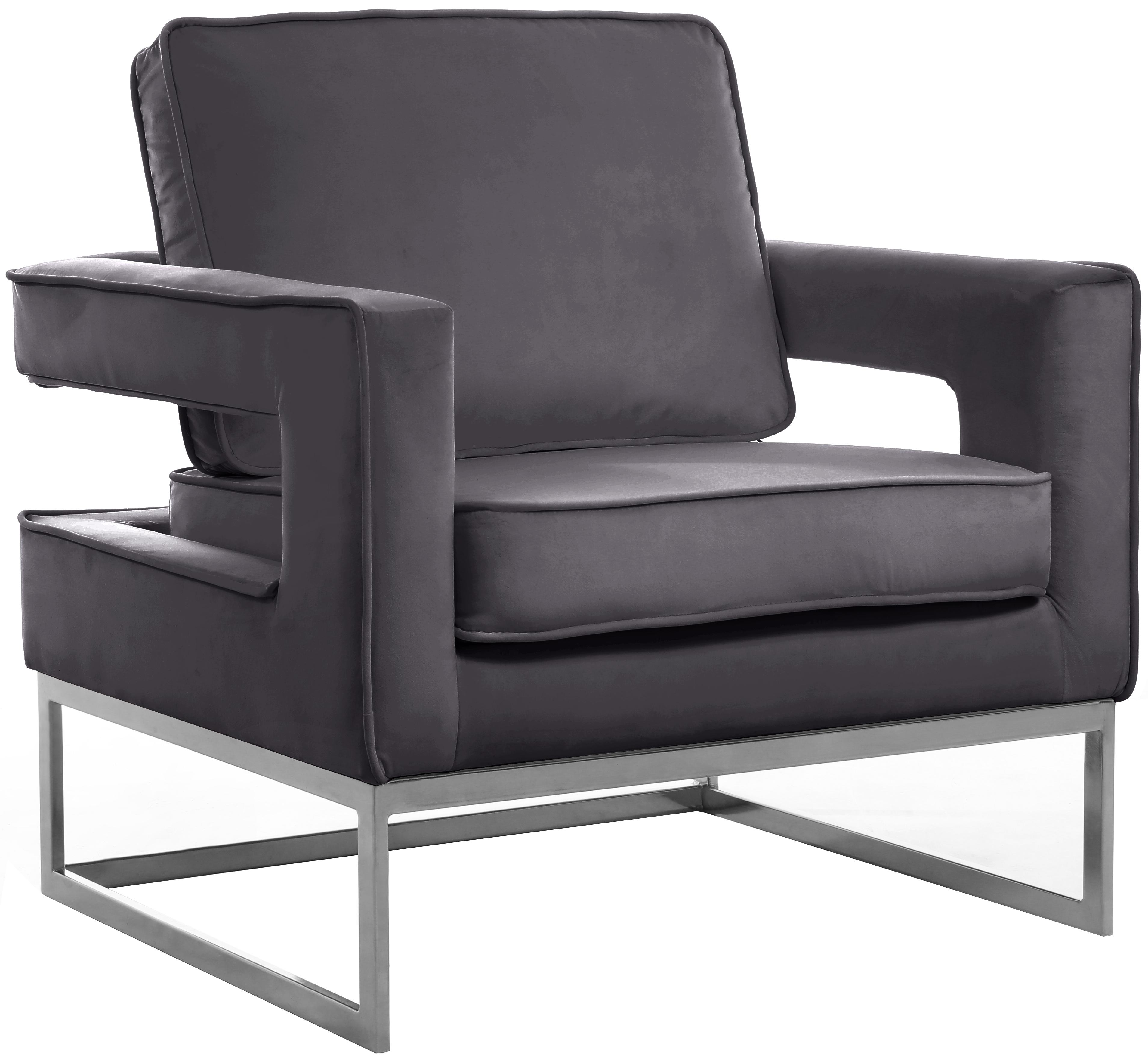 Noah Grey Velvet Accent Chair