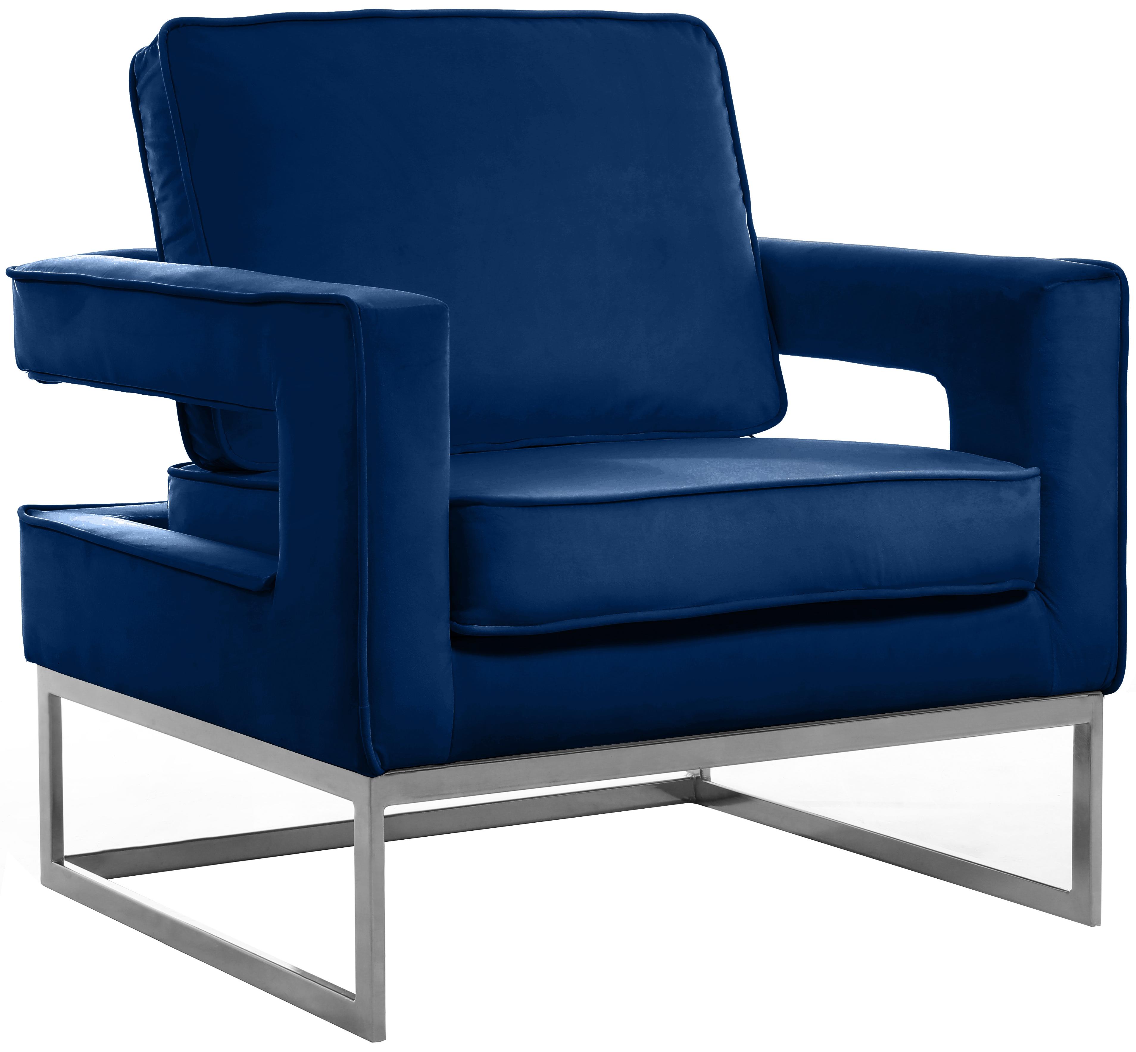 Noah Navy Velvet Accent Chair