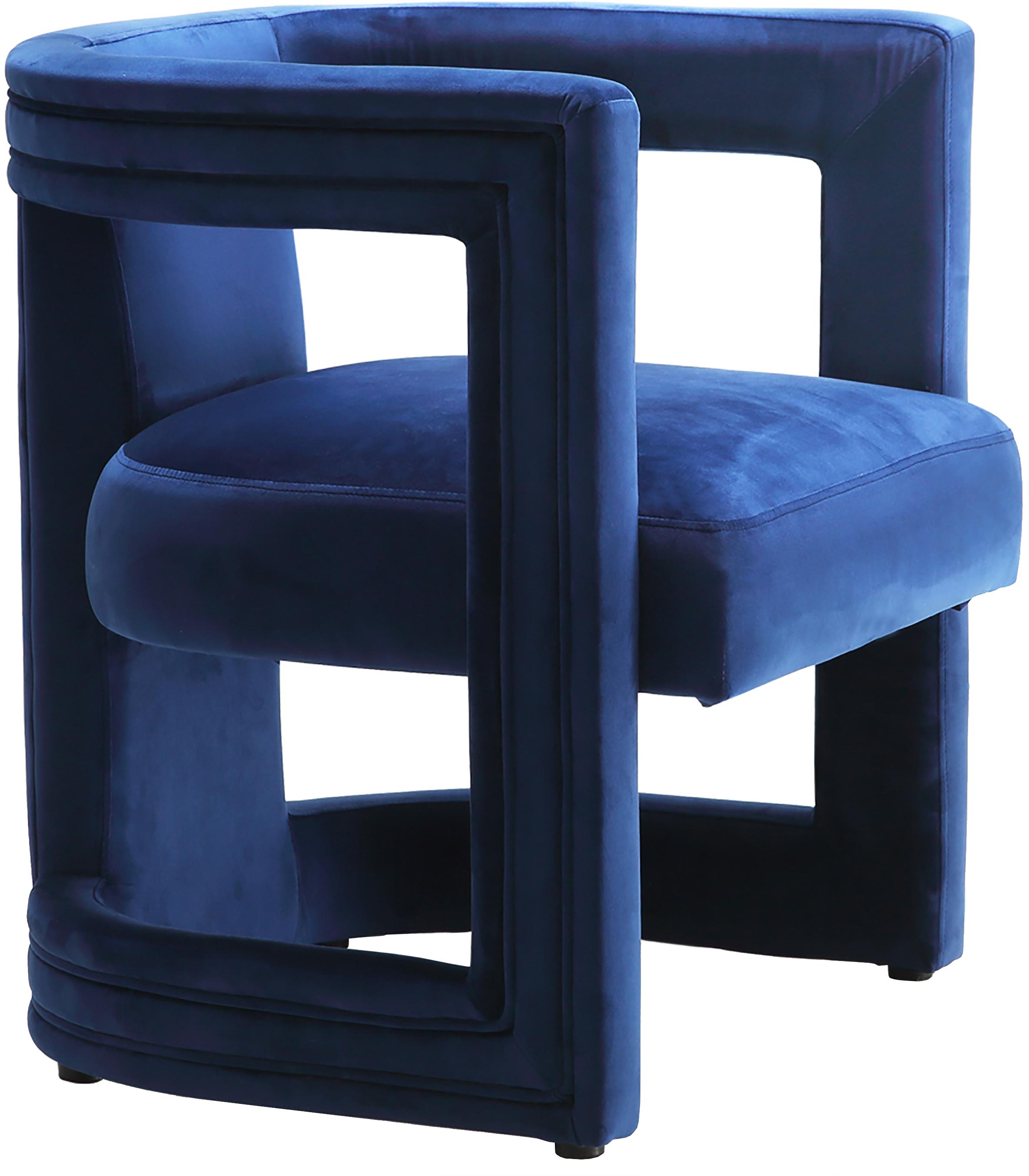 Blair Navy Velvet Accent Chair