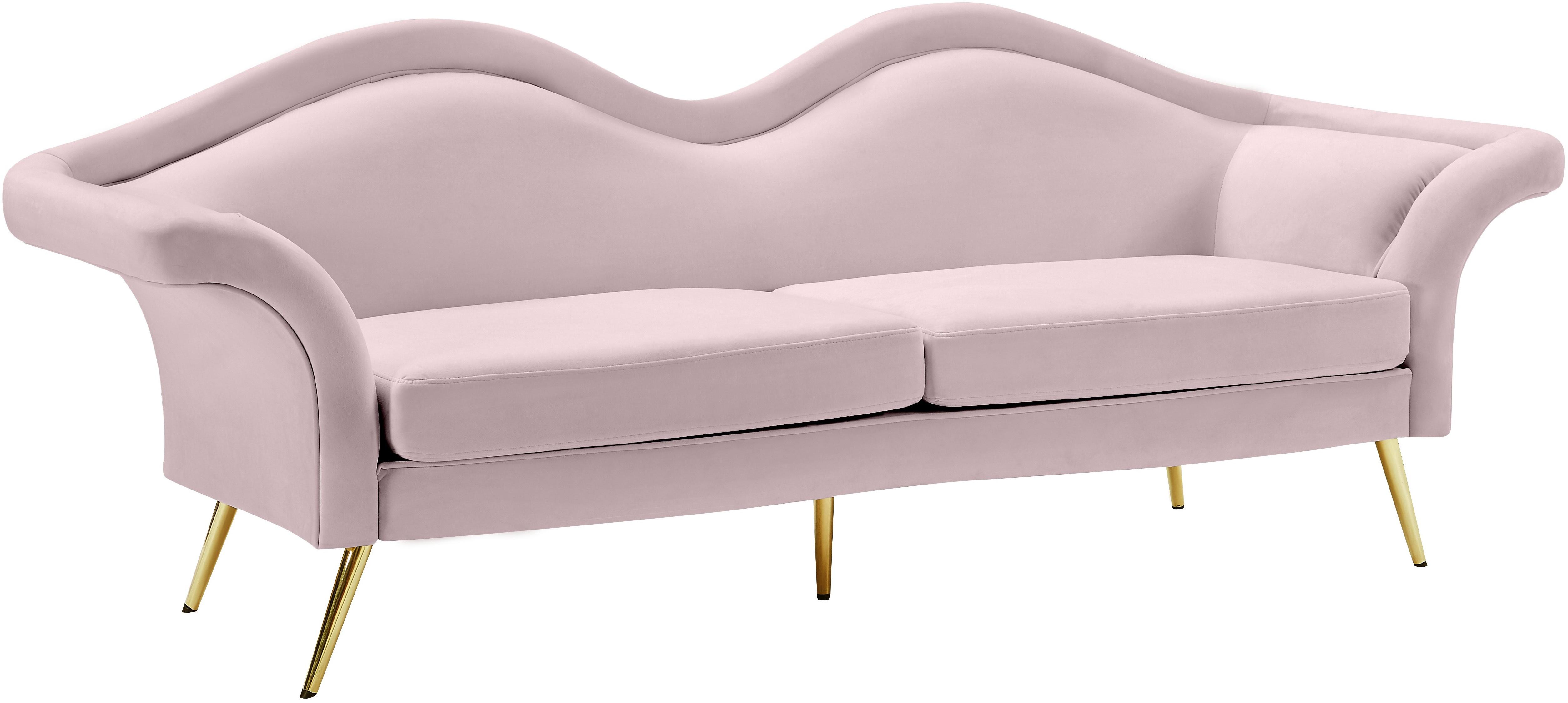 Clarissa Pink Velvet Sofa