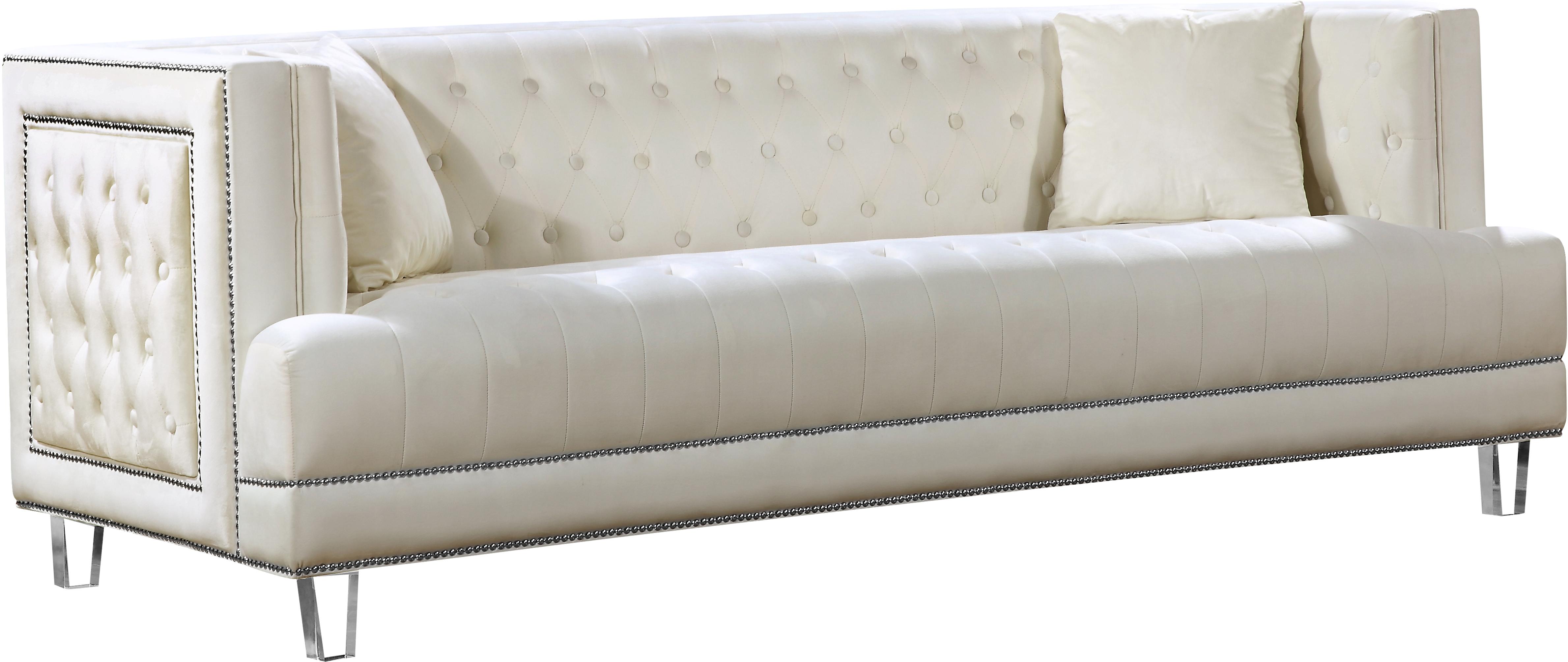 Lucas Cream Velvet Sofa
