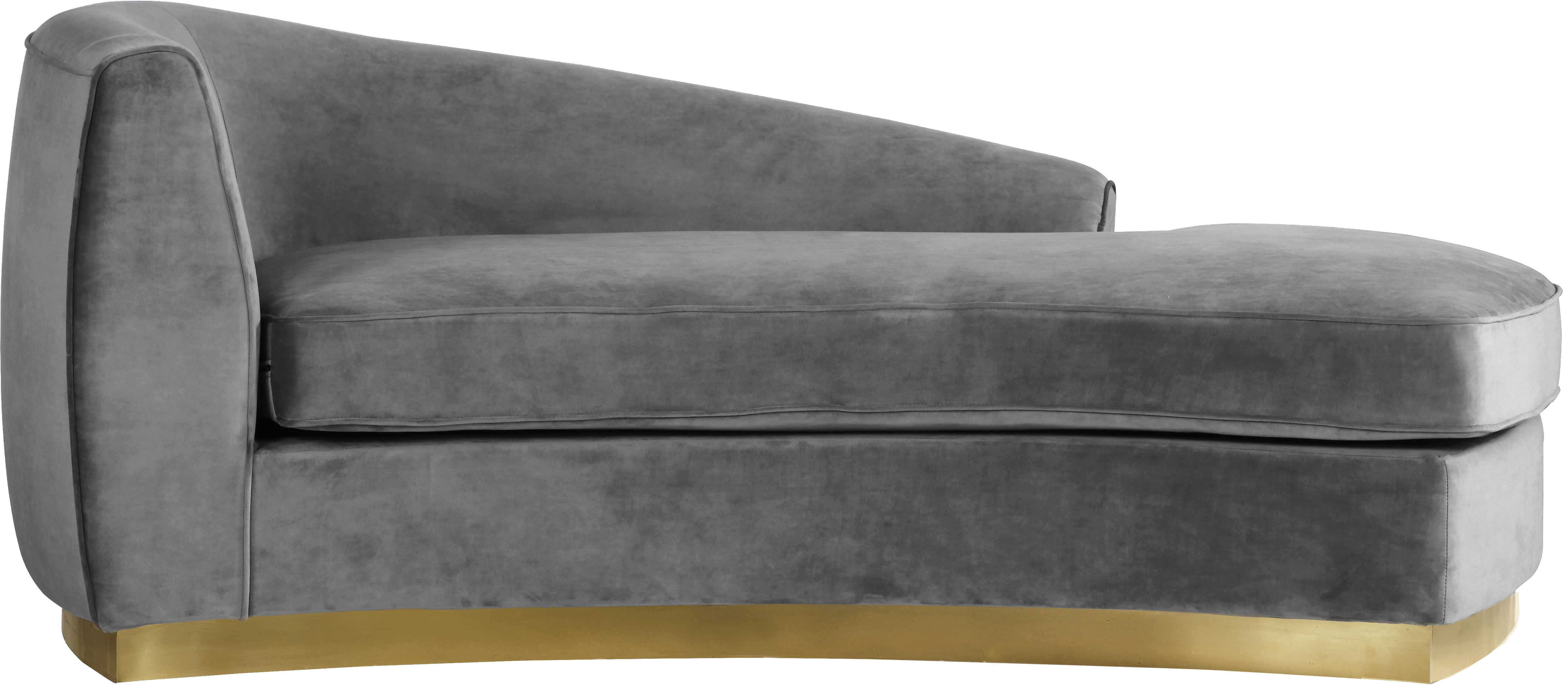 Julian Grey Velvet Chaise