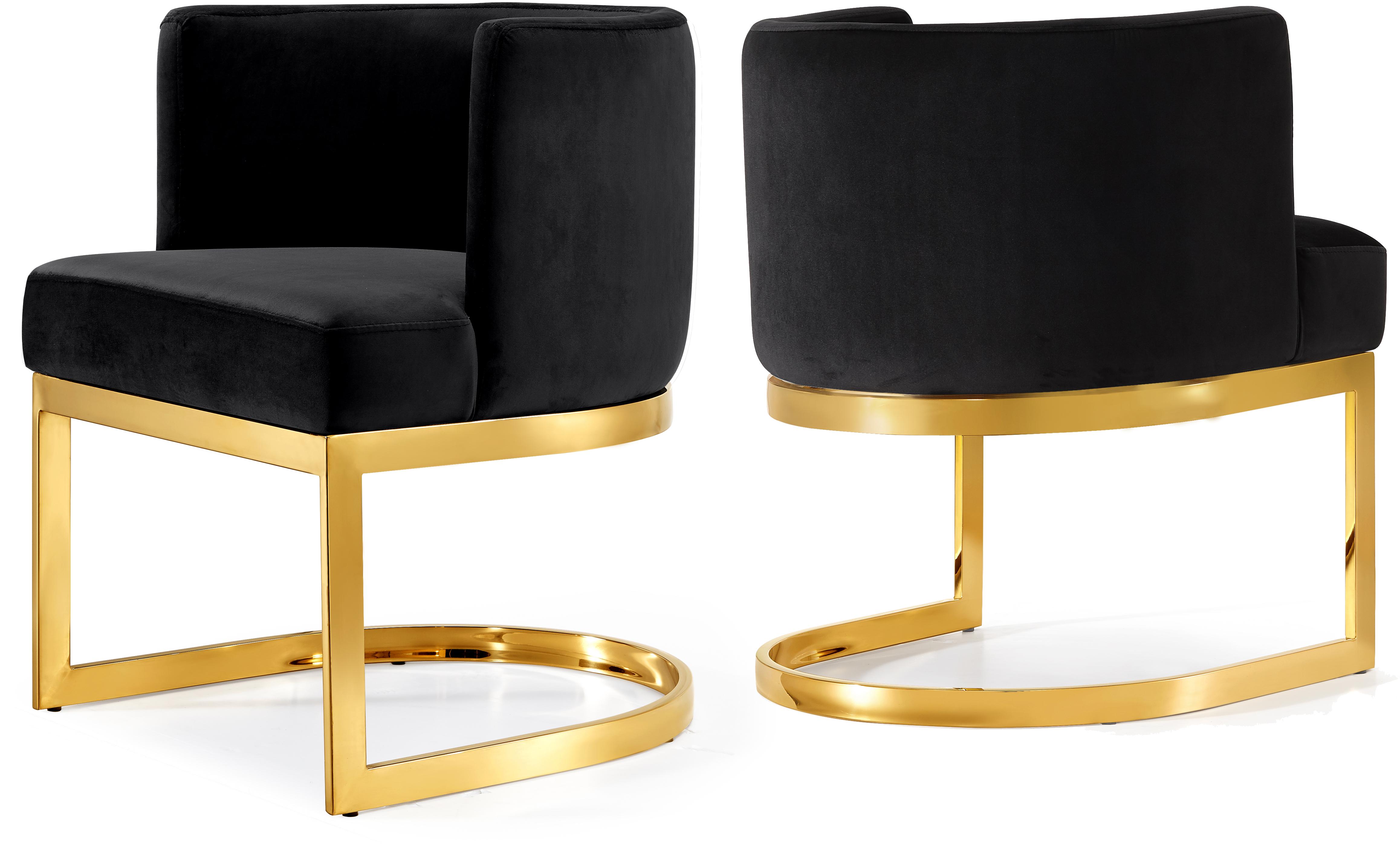 Gianna Black Velvet Dining Chair