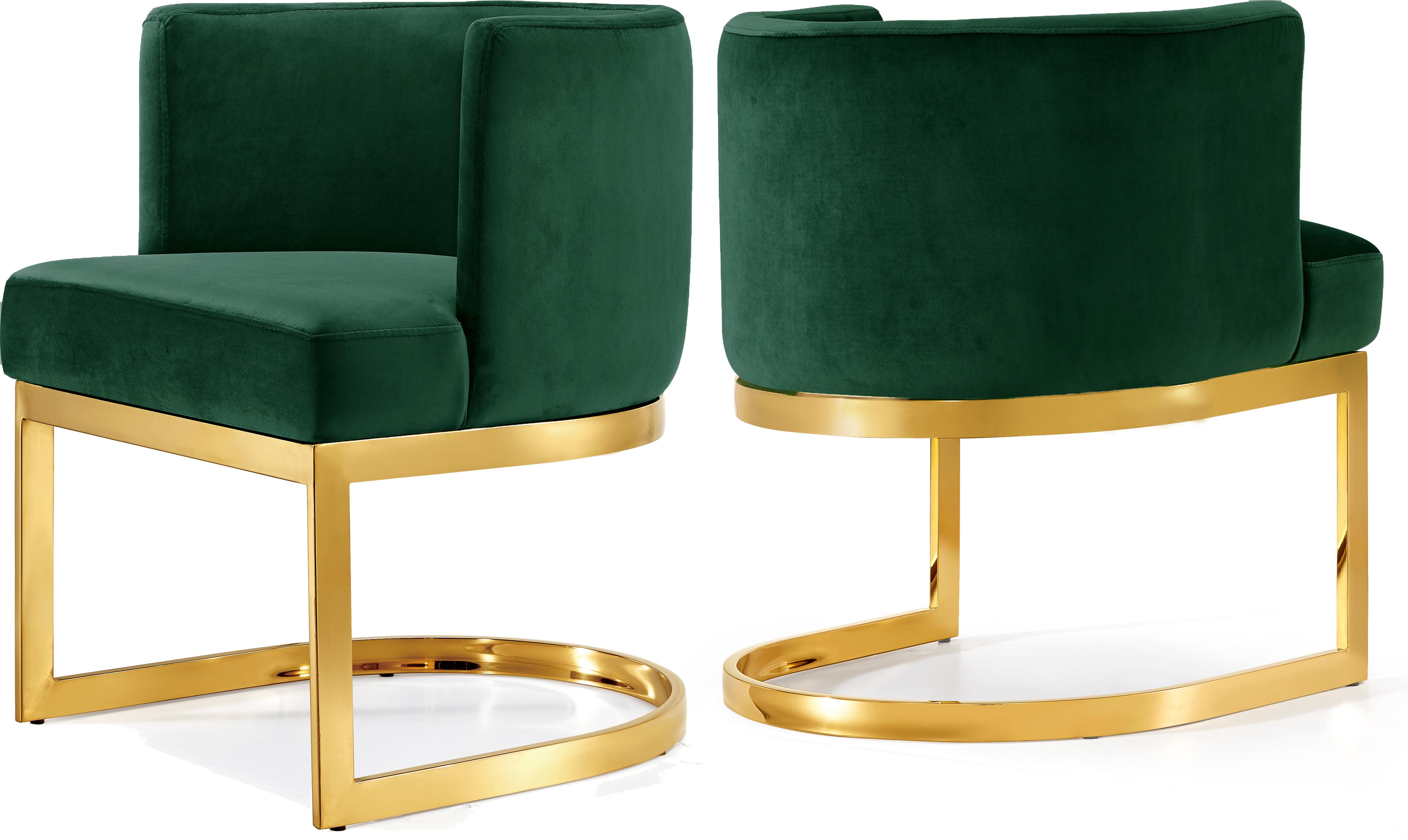 Gianna Green Velvet Dining Chair