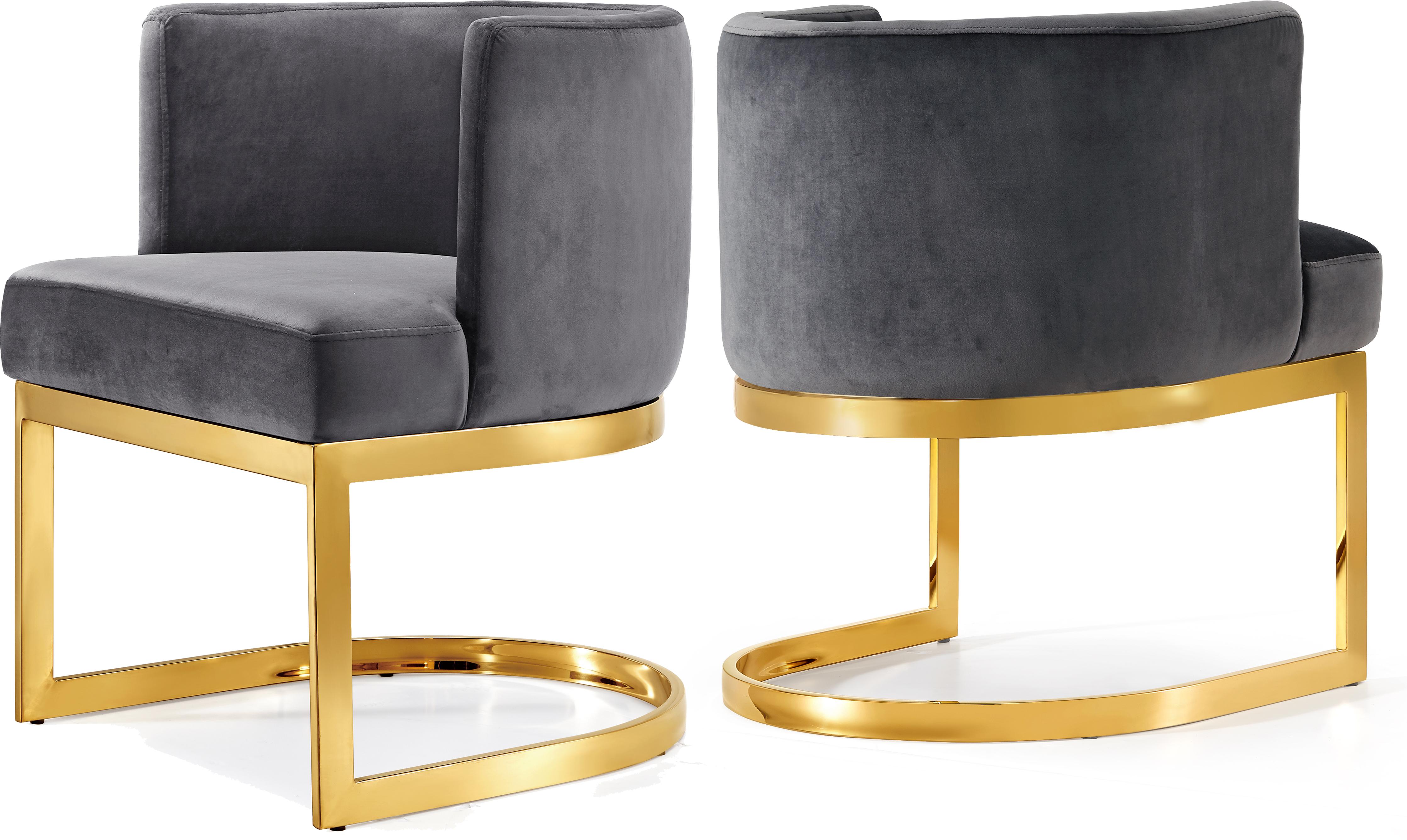 Gianna Grey Velvet Dining Chair