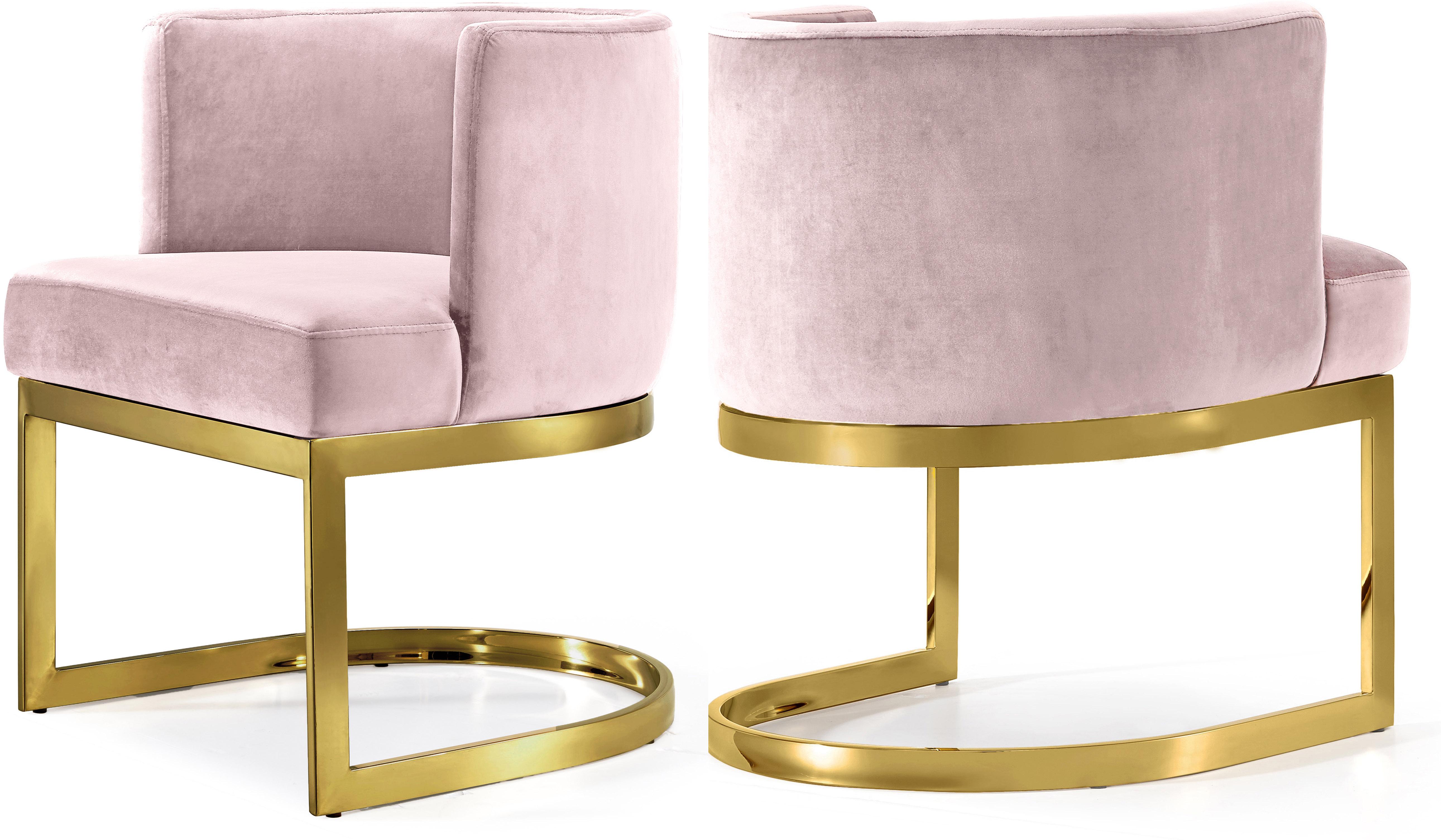 Gianna Pink Velvet Dining Chair