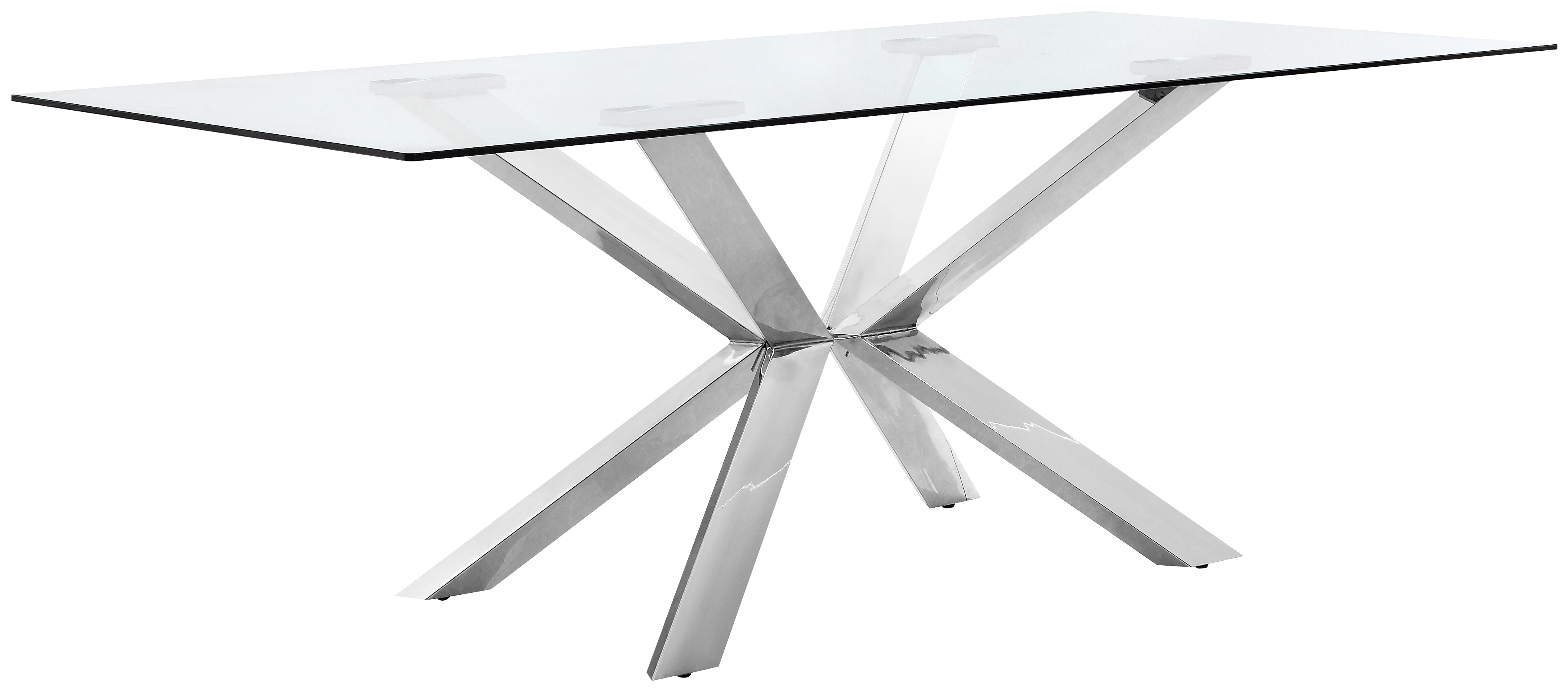 Juno Chrome Dining Table