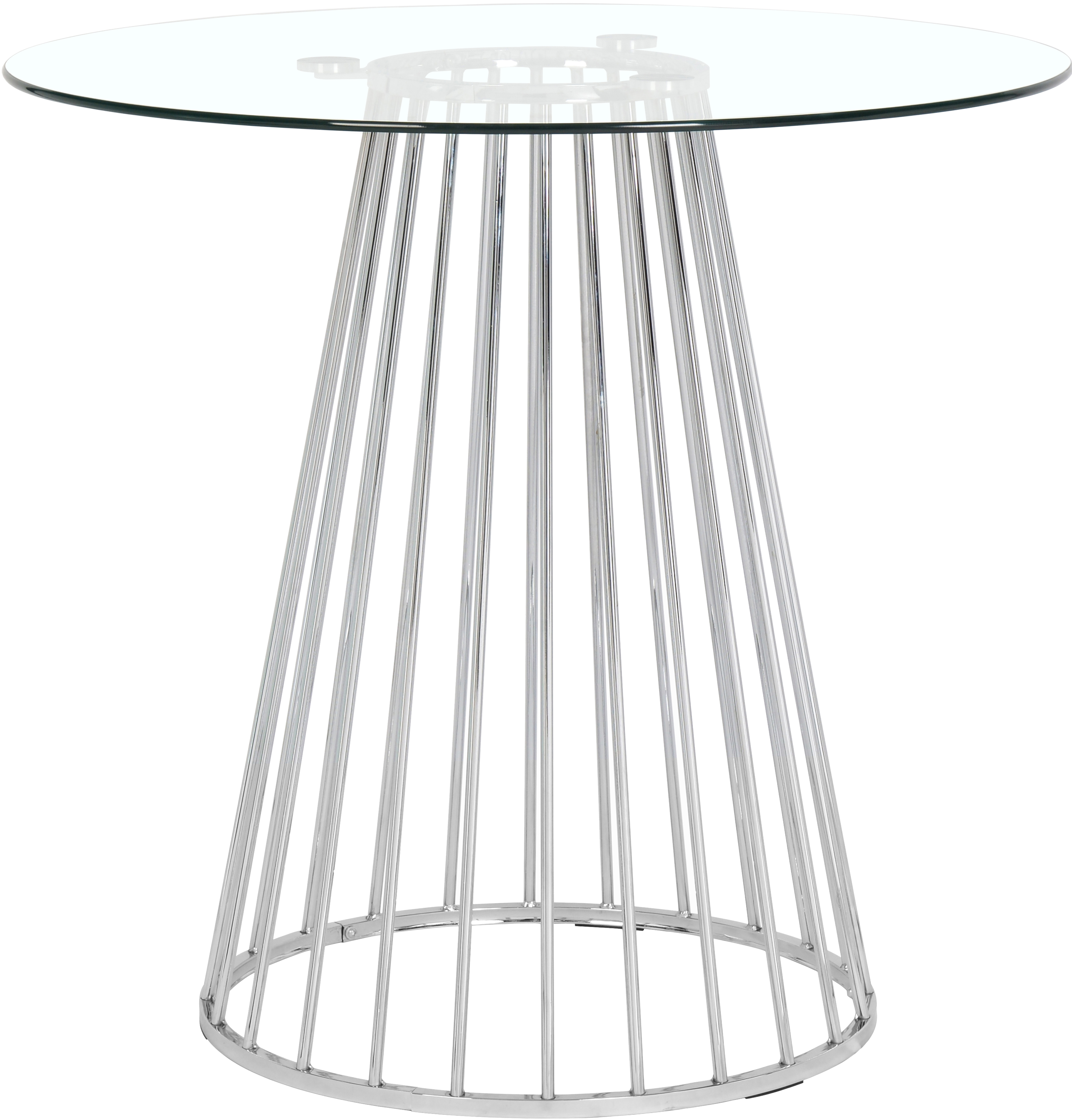 Gio Chrome Counter Height Table